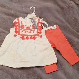 Matching short sleeve shirt and capri set